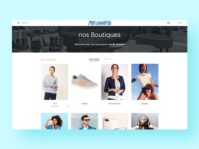 Mall website — Detail 1 filter sliders typography minimal webdesign grid ecommerce mall