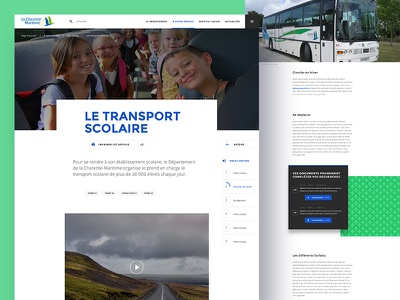 Charente Maritime — Article page institutional typography grid article webdesign