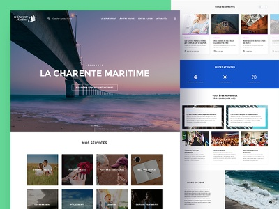 Charente Maritime — Home page landing page institutional corporate keyvisual news homepage webdesign