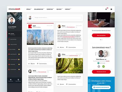 SCET — Social Network grid website social network institutional corporate homepage webdesign