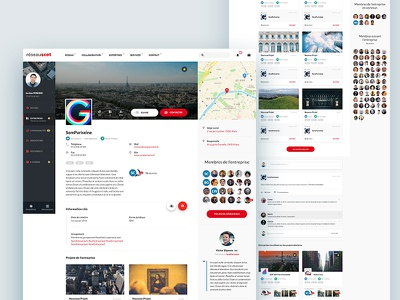 SCET — Social Network / Corporate profil social network website webdesign tags profil institutional homepage grid forms corporate cards