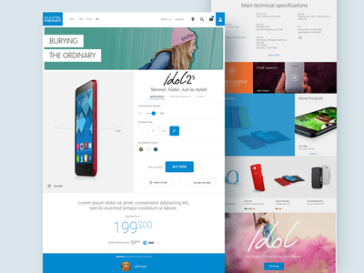 Alcatel One Touch — Product Page product page grid webdesign ecommerce mobile