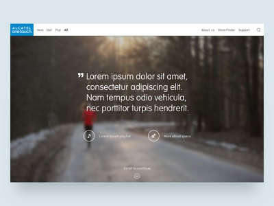 Alcatel One Touch — Webdoc concept concept icons webdesign minimal