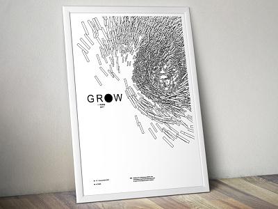 Grow Paris 2017 — poster 1/3 generative design creative coding processing typography arial minimal print poster