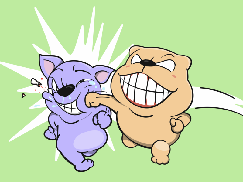 Smiley punch drawing cartoons characterdesign illustration funny character