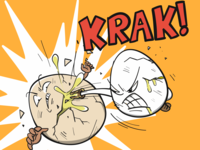 karate eggs fighting