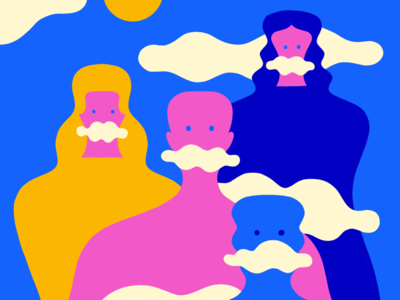 Waiting for the clouds to leave minimal stefanomarra digital illustration illustrations