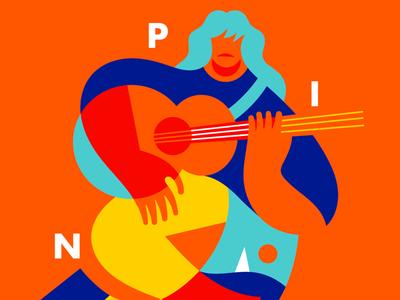 Sció, tribute to Pino Daniele. graphic design poster pino daniele illustrators illo illustration
