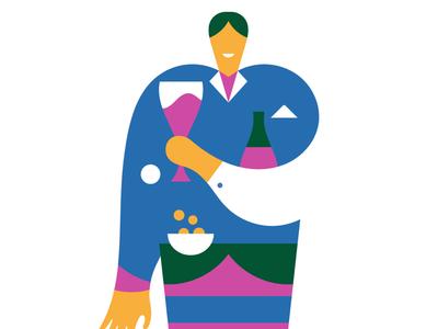 Happy aperitivo! stefano marra style vector illustrations design illustrations