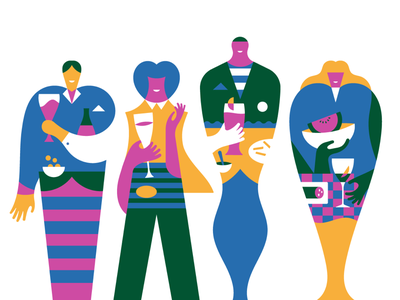Happy Aperitivo! illo stefano marra editorial design digital illustration artwork illustrations