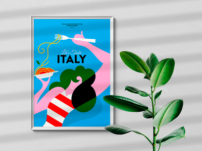 Let's taste Italy vector illustrations stefanomarra design illustrations minimal