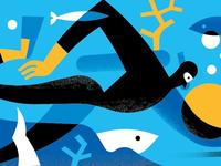 Illustration underwater, work in progress.