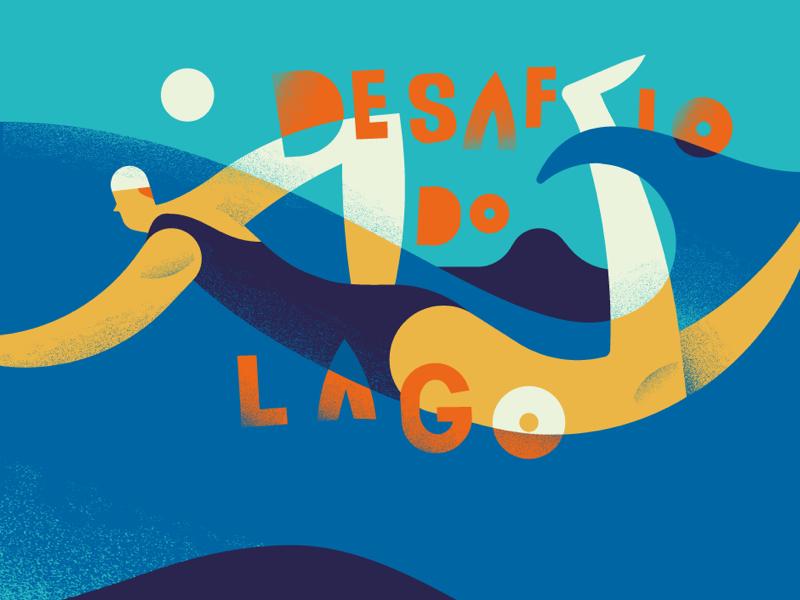 Circuito Aqua - Desafio do Lago illo series style sport illustrations stefanomarra