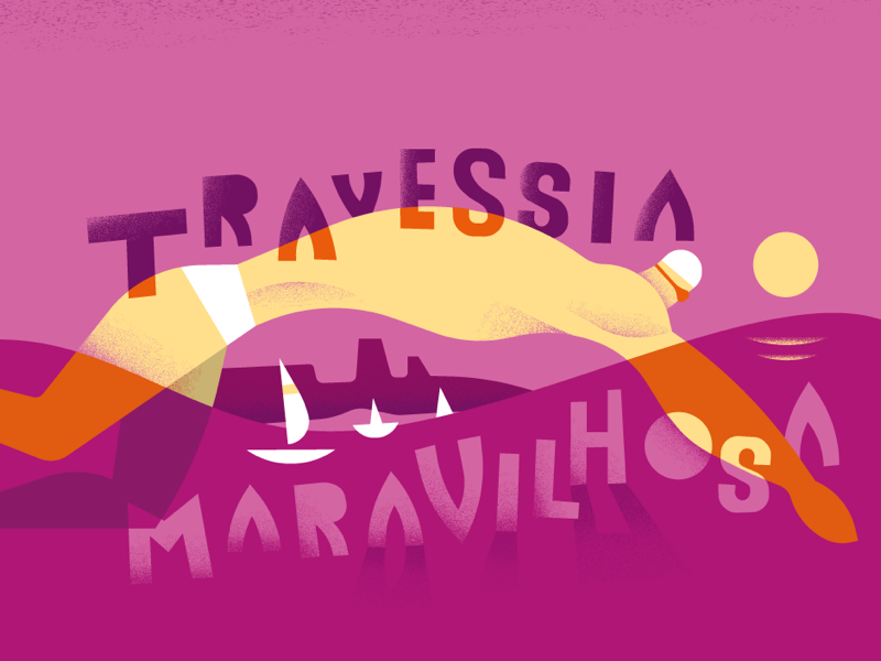 Travessia Maravilhosa stefanomarra style sport illustrated illustrated sport brazil series illustrations illo