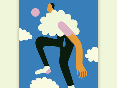 How to wear a cloud: nosense cloud stefanomarra illustration illustrazioni