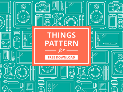 Things Pattern - download for free illustration pattern phone tablet gamepad gameboy gadget things tech texture free freebie