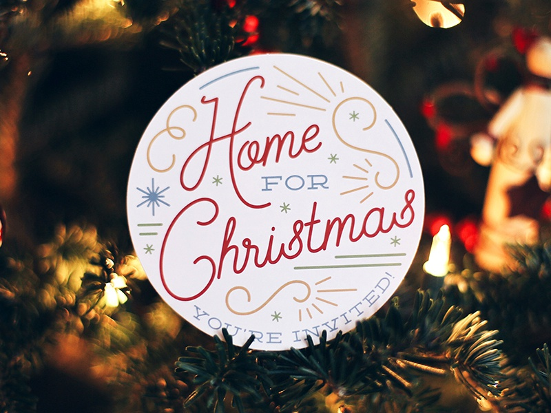 Home for Christmas illustrator hand lettering holidays series church sermon christmas home