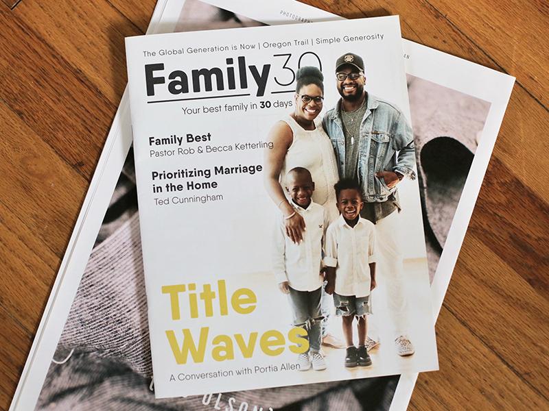 Family30 Magazine print church family sermon series magazine family30