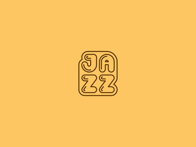 Jazzy groovy logo font music jazz flat