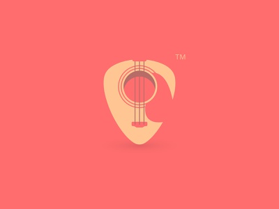 Logo for Guitar Shop guitar symbol music pick branding logo