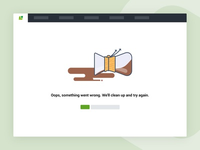 Error page - something went wrong.