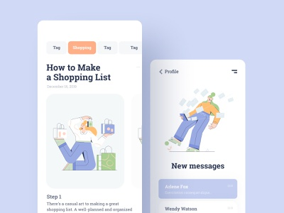Illustrated Mobile App free vector freebies illustrator affinity adobe xd figma scetch interface ux ui illustrations mobile app