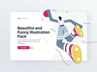 Yaay! Crazy Illustration Kit vector app mobile web illustration figma sketch