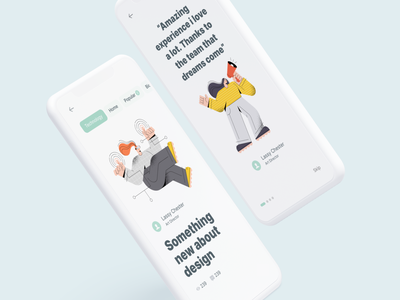 Articles Reader App vector figma sketch mockups clay illustration onboarding reading app uiux app