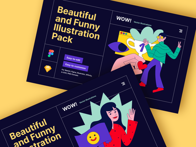 Waaahh! UI illustration Kit brutalism trends 2021 abstract characters empty states popup hero onboarding app landing branding uidesign xd ai sketch figma vector illustrations