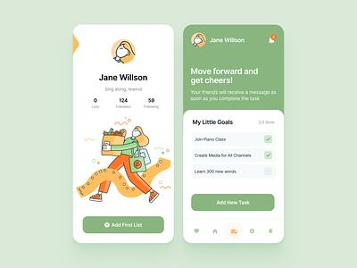 To Do List App with Clusck! Illustration Kit web sketch figma design landing branding mobile app ui profile app list to do list illustrations vector
