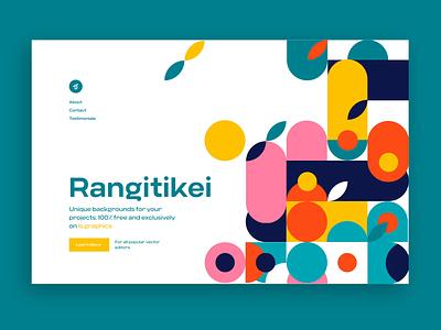 Rangitikei illustration web design branding free vector figma sketch patterns pattern freebies freebie animation