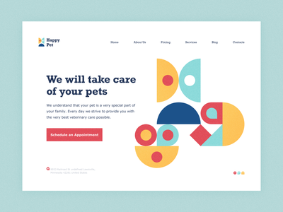 Pet Care Web Concept with Paaatterns!!! hero image logo illustration vector free figma sketch patterns pattern freebies freebie branding design web