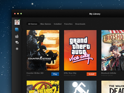 I redesigned Steam for Mac