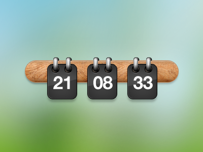 Flipper clock wood time flip