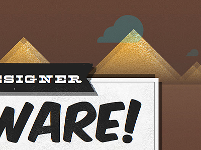 Designer Beware! designer beware western font face css3 html old grunge typography noise