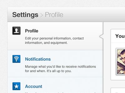 Profile Settings settings profile icon ui tabs noise lol