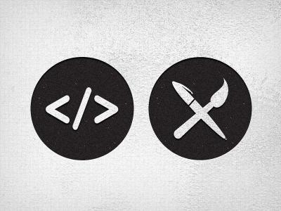 Developers And Designers designers developers icon grunge texture monochrome