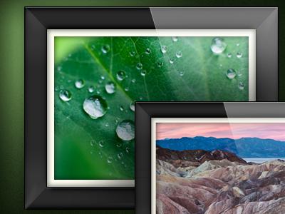 Framed frame photo gloss shiny