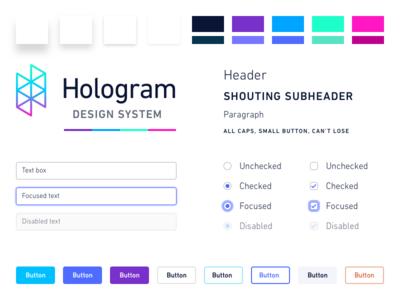 Hologram Design System, Pt. I