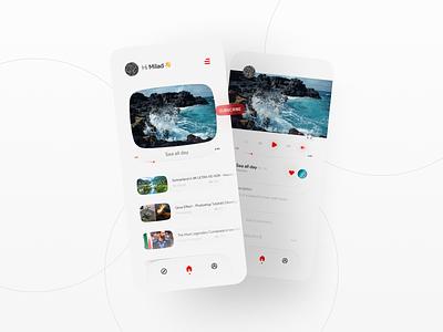 Youtube Ui reDesign 📽 youtube ui milad farahmand design