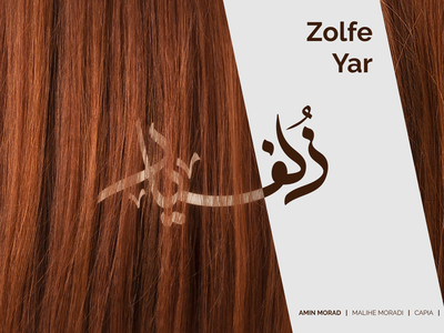 """""""Zolfe Yar"""" Track Cover Design👩🏽 hair music cover typography milad farahmand design"""