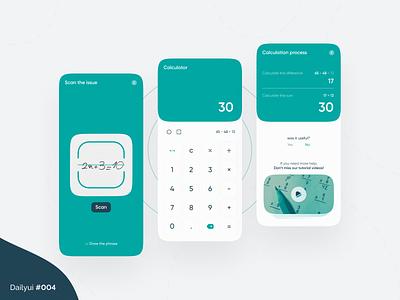 Calculator daily ui scan number math ui design dailyui mobile app design ux calculator ui