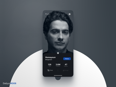 Profile page follow avatar picture instagram page profile 006 dailyui daily ui ux design ui
