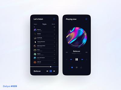 Musico | Music player iphone app song music player player music milad farahmand design ux daily ui dailyui ui