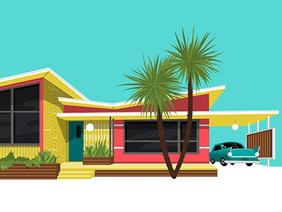 Mid Century House key west palm springs mid century miami house eichler 1960 neon vintage retro