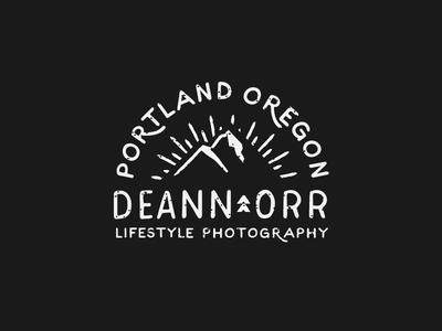 Deann Orr Photography Logo sunrise mountain texture oregon portland photography logo