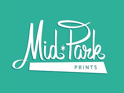 MidPark Prints midcentury kitche mid century vintage retro logo hand lettering typography hand drawn