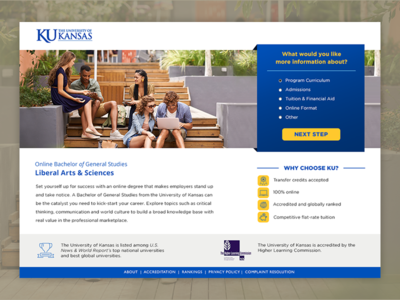 The University of Kansas online Bachelor of General Studies