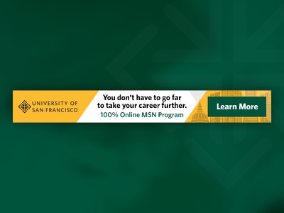 University of San Francisco MSN Banner Ad banner university school marketing usf banner ad education