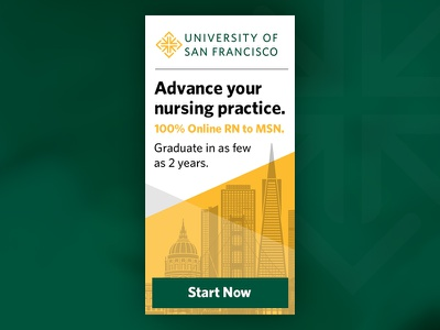 University of San Francisco MSN Banner Ad banner university school marketing usf banner ad education